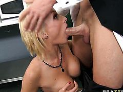 Johnny Sins whips out his meat stick to fuck sex hungry Lexi Swallows wet hole