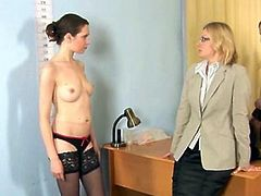 Dirty job interview for young secretary babe