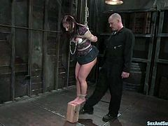 This petite and super sexy siren Katja Kassin is under the care of Mark Davis. She gets naked and starts having a real amazing experience of BDSM sex!