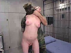 This amazingly hot and sexy babe Lilly is going to feel so fucked up by Sgt. Major and his partner! They tie her up and suspend her to make her feel pretty miserable!