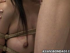 Asians Bondage brings you an amazing free porn video where you can see how a tied up Japanese brunette chick gets fucked by two dudes into a spectacularly intense orgasm.