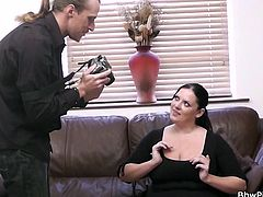 We have something special here at Bbw Pickup and that something is Rebecca, a brunette fatty with a pretty face and a huge crave for hard cocks. Rebecca has just been picked up but our guy and she happily followed him in his house. There, she revealed what a whore she is and how much she loves sucking cock.