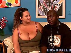 She used her enormous huge melons to seduced this gifted black male. She made his long dong hard like a rock before he pounded that slut hard.