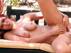 Veronica Ricci is full of desire to masturbate with toy