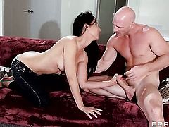 Johnny Sins explores the depth of hot blooded Isis Loves wet cunt with his snake