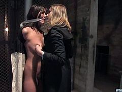 Two bitches are going to have a lot of passion and fun together! Alicia Stone gets tied up and Maitresse Madeline is loving the way she stands pain!