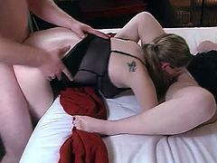 Two brown-haired skanks are playing dirty games with two men in a bedroom. They show their cock-sucking abilities to the guys and then jump on their dickls and moan loudly.