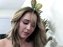 Ella Milano spends her sexual energy with Peter Norths throbbing cock in her mouth