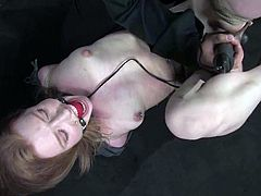 Madison Young moans loudly while getting orgasms in BDSM clip