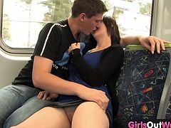 A young Australian chick felt horny when her boyfriend started fingering her in the bus. They went to his place and she received some hardcore banging in her pussy.
