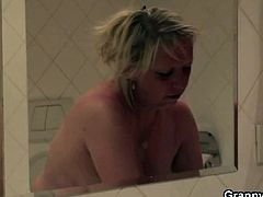 Granny Bet brings you a hell of a free porn video where you can see how a horny blonde granny gets blasted by a young stud into a breathtaking explosion of pleasure.
