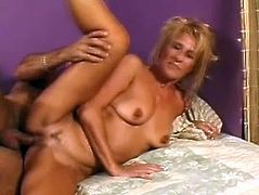 This blonde hoe Treasure find outside horny gifted dude to get hardcore sex in her hotel room. She sucked his big stiff dick before he destroyed her beaver