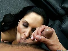 With massive breasts shows her slutty side to horny bang buddy Rocco Reed