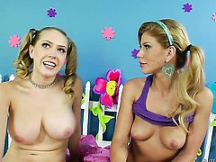 Darla Crane gets her fuck hole touched hard by Roxy Raye