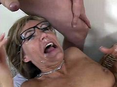 This is a POV facial penetration scene with a blond mature lady, who loves it big. At the end he jizzes on her face and she manages to catch some cum in her mouth.