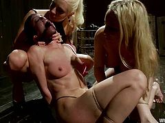 So, here are two juicy and luscious blond bitches, who are going to humiliate this sweet siren! It's terrible for slaves, when Aiden Starr and Lorelei Lee join their efforts.