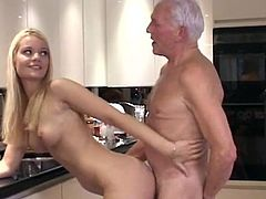 Cute doll lets her older step dad to slide his dick up her warm little vag