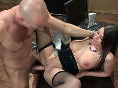 She videos her man looking fine and just cant resists shoving his schlong in her mouth! Hear beautiful tight pussy gets ripped in this office fuck!