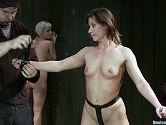 Two smoking hot sex slaves are being humiliated! They get tied up and one of them gets trapped inside the transparent sphere, while the second babe gets arched on it!
