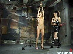 There's some pretty wild toying and more kinky stuff in this clip packed with bondage and lesbian domination.