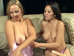 Kaiya Lynn, Lauren Lee and Sindee Coxx have the best lesbian sex in their lives. All three chicks are different. There are busty MILF, Asian babe and horny White chick. All three chicks play with each others pussies with pleasure.