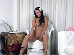 Kira is beautiful and here we have her, naked and with her fishnet pantyhose on. Her nylons makes this exotic beauty even hotter and it makes her feel naughty and horny. Stay with her and give this dark haired beauty the attention she deserve. Maybe she will give us something back in return!
