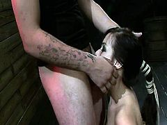 Horny Kimmie Lee forced to orgasm