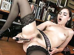 Sasha Grey displays her body parts before she plays with herself