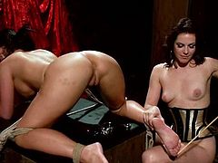 What a steaming hot and charming sex slave Phoenix Marie is! She is totally loyal to Bobbi Starr and they are going to have some fetish sex.