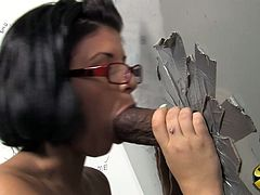 This sexy chick with delicious hot ass went it toilet and rubbing her cunt until that big black cocks shows up. Enjoy watching this interracial sex.