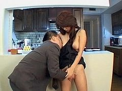Hot japanese doll Natsuki Iijima is quite horny to bang her pussy and ass