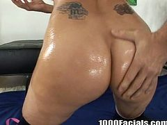 Chloe Dior is an extremely seductive blondie who can make any man jizz at once just seeing her lovely pair of big boobs. Sex-starved slut knows how to treat a man. She sucks his cock passionately like a dirty whore. Then he bangs her from behind.
