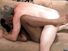 Cocoa Jessica Grabbit plays with her clit as she gets her hole boned interracially