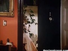 Watch this lucky dude fucking two hot and sexy retro babe in this threesome video.See these horny babes sucking his big cock on their knees and getting their tight hairy pussies fucked in turns.