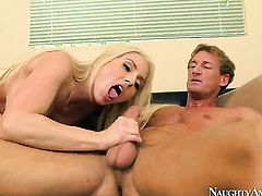 Christie Stevens gets her vagina dicked hard and deep by Ryan Mclane in a variety of positions