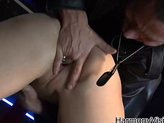 Check out this hardcore scene where the smoking hot Paige Turnah is eaten out before riding this guy's large cock while you'd wish you were him.