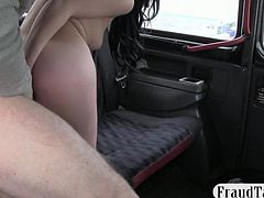Dark haired chick banged for a free fare