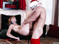 Johnny Sins cant resist glammed up Marie McCrays acttraction and bangs her like crazy
