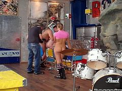 Big muscled sexually abused dirty minded dudes energetically hammer big assed light head whorish hootchies from behind in standing pose. Look at this group fuck in Fame Digital porn clip!