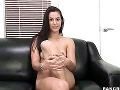 Alannah Monroe with phat butt tries her hardest to make hot dude bust a nut with her mouth