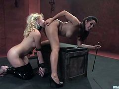 Two steaming hot and desirable babes Isis Love and Katie Summers are here for some fun! They get naked and start this insane BDSM staff.