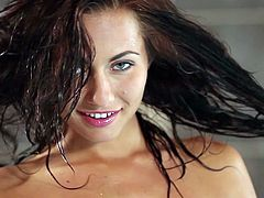 Sensual chick, Michaela Isizzu, plays amazingly hot in astounding solo nude show