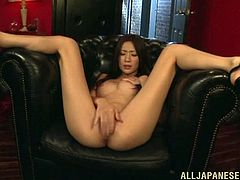 Press play on this hot solo scene and get a boner as you watch the beautiful Asian babe Kaori Maeda playing with her wet pussy.