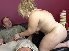 She's a midget whore that loves to be filled up with big cocks. This time she found a big, hard one and she's about to have lots of fun! The slut gets pussy licked and then undressed by the dude and after that, she sucks his cock! Look at her swallowing that dick, where does it fits?