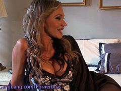 Nikki Sexx plays the role of a cheating whore who gets what she deserves from a gang of horny studs that fill her holes.