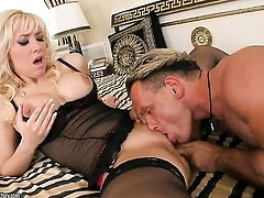 Blonde Karlie Simon gets a pussy pounding
