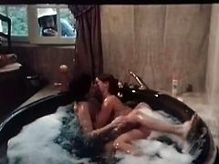 At first you can see two frisky lesbians having fun in jacuzzi. Then you'll see how mean mistress examines her young students' fresh looking pussies.