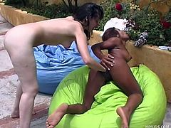 White Karen and her chocolate gf Marcela are two lesbos whores that want to show us what they are capable of. They start out by kissing and then Marcela bends over and gives her ass to Karen. Karen takes her slow and fingers that black pussy before inserting her entire hand in it. Now we're talking business!