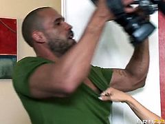 Carlo Carrera is interested in a new neighbor, Darla Crane. This mature hottie is horny and pleasing herself with a dildo, but later on she takes Carlo's dong.