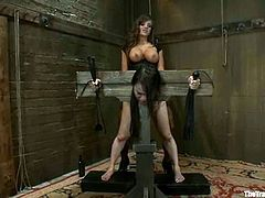 Madeleine Mei is having fun with Asian hottie Nika Noire. She binds Nika, makes her lick her snatch and then destroys her pussy with a strapon.